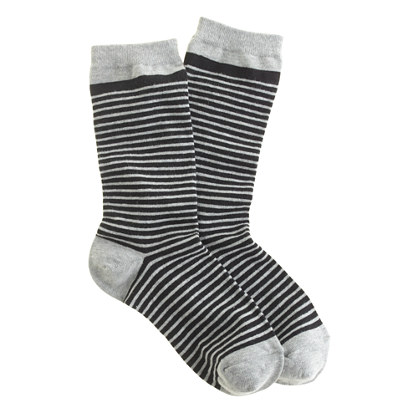Tiny-stripe trouser socks