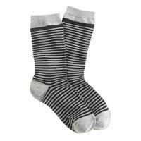 Tiny-stripe trouser socks