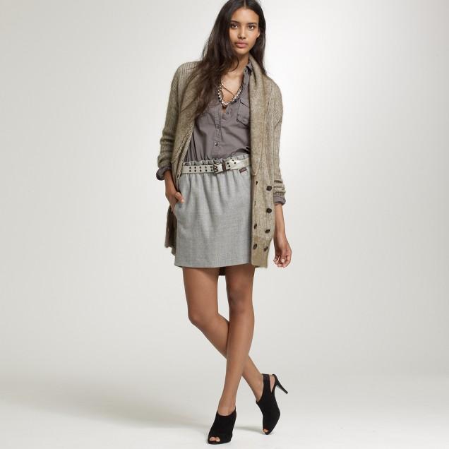 Wool bell skirt