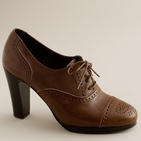 Langford leather high-heel oxfords