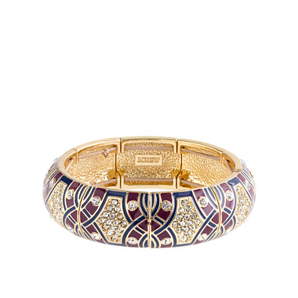 Crystal mosaic bangle