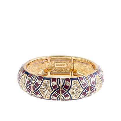 Crystal mosaic bangle