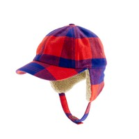 Boys' buffalo check trapper hat