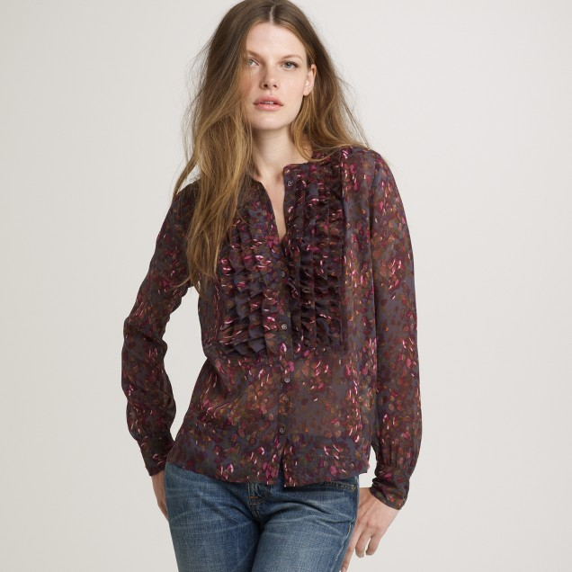 Bayberry flouncette blouse