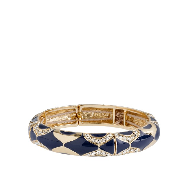 Crystal mosaic skinny bangle