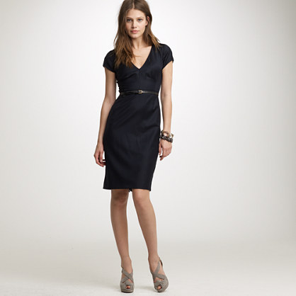 Workday dress in pinstripe super 120s