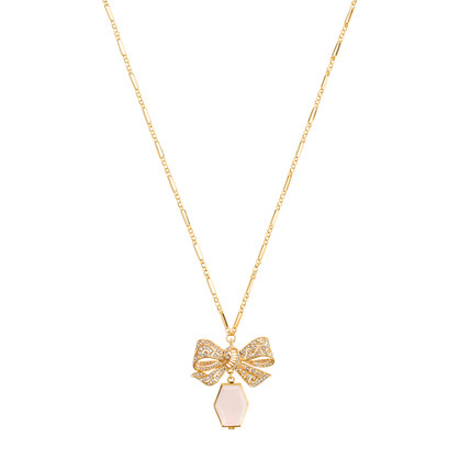 Bow locket necklace