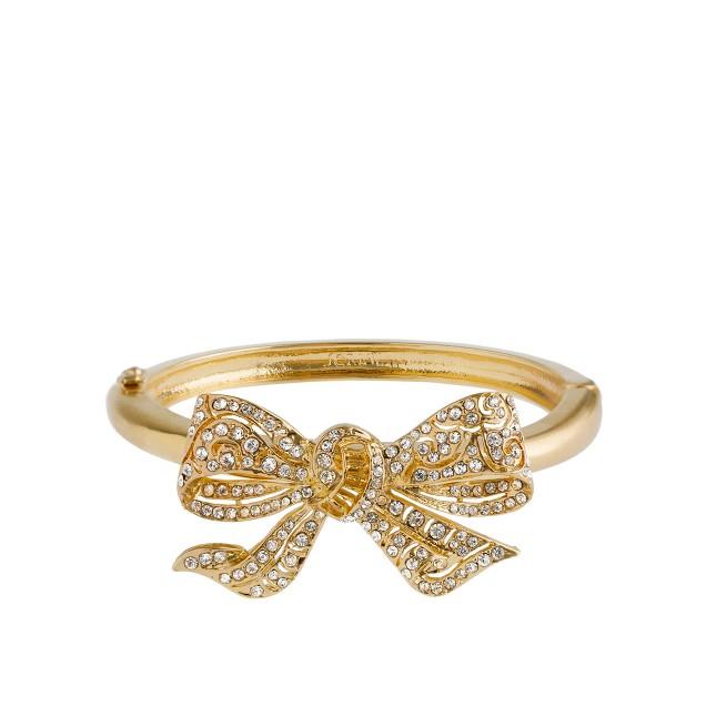 Crystal bow cuff