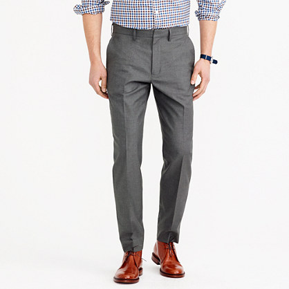 Bowery classic pant in heather cotton twill