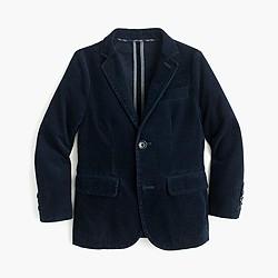 Boys' unconstructed Ludlow blazer in corduroy