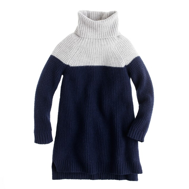 Girls' colorblock lambswool tunic