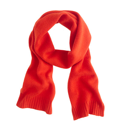 Girls' cashmere solid scarf