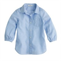 Girls' classic point-collar shirt