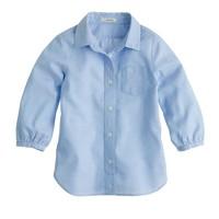 Girls' classic point-collar shirt