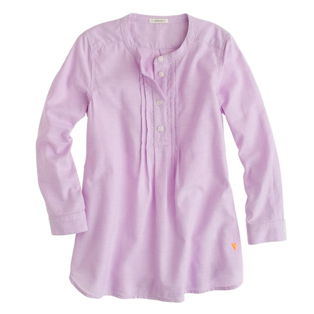 Girls' pleated bib tunic