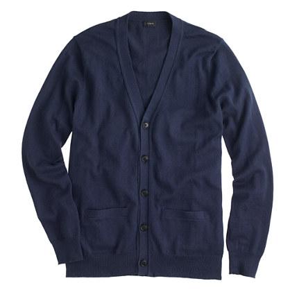 Cotton-cashmere cardigan sweater