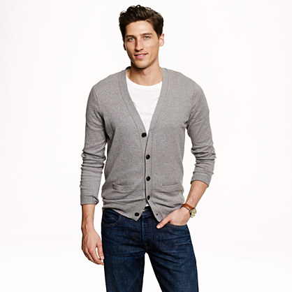 Cotton-cashmere cardigan sweater