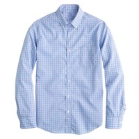 Slim Secret Wash shirt in papaya tattersall