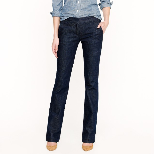 Tall trouser jean in classic rinse wash