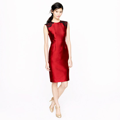 Collection shoulder lace dress