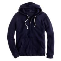 Italian cashmere zip hoodie