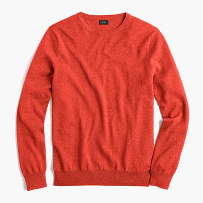 Tall cotton-cashmere crewneck sweater
