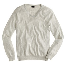 Cotton-cashmere V-neck sweater