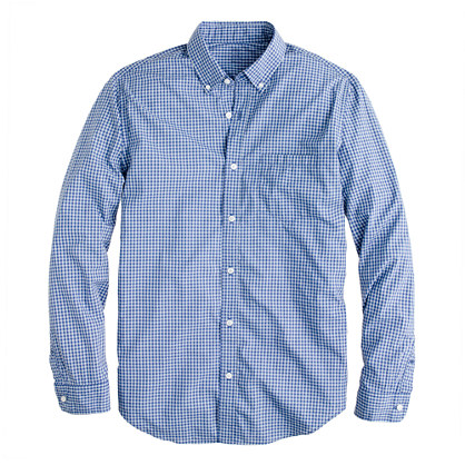 Secret Wash shirt in glacier blue gingham