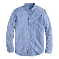 Tall Secret Wash shirt in glacier blue gingham