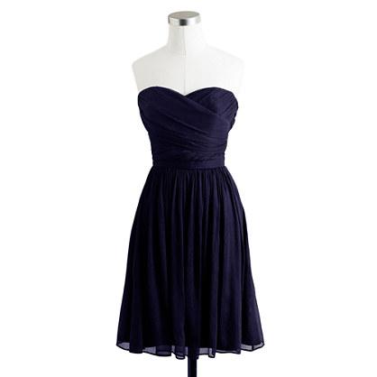 Petite Arabelle dress in silk chiffon