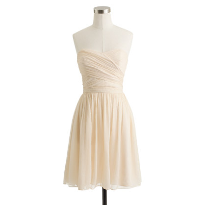 Petite Arabelle dress in silk chiffon