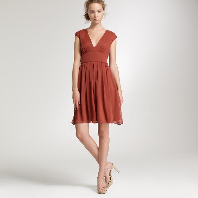 Petite silk chiffon Abigail dress