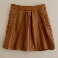 Leather Atlee skirt