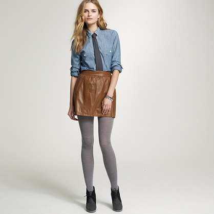 Leather Atlee skirt