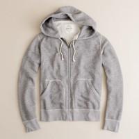 Marled fleece full-zip hoodie