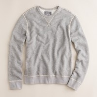 Marled fleece sweatshirt