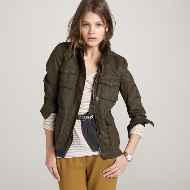 Waxed utility jacket