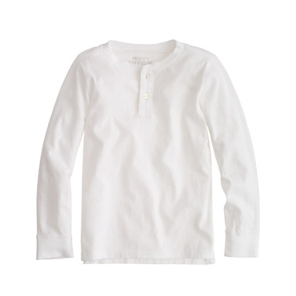 Boys' long-sleeve jersey henley