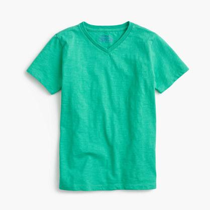 Boys' jersey V-neck T-shirt