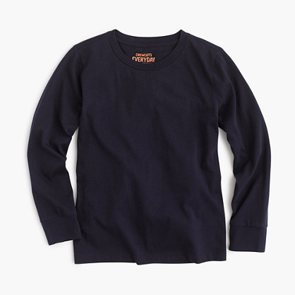 Boys' long-sleeve jersey T-shirt