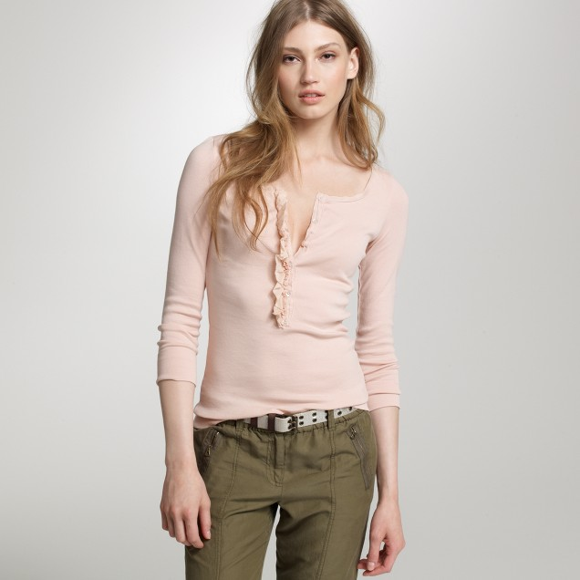 Perfect-fit ruffled henley