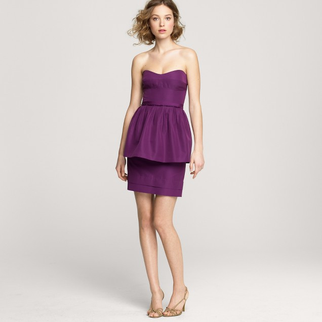 Leighton dress in cotton-silk faille