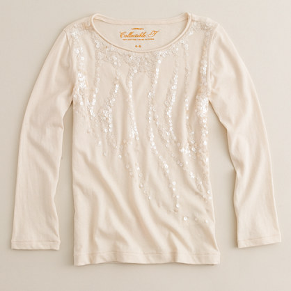 Girls' sequin drizzle tee