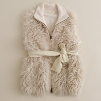 Girls' Charlize shearling vest