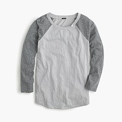 Marled baseball T-shirt