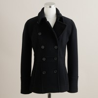 Petite stadium-cloth peacoat