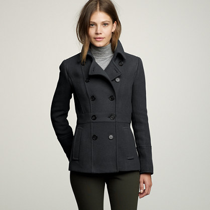Stadium-cloth peacoat