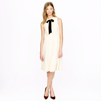 Swiss-dot chiffon dress