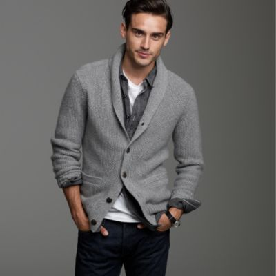 Cashmere grid-stitch cardigan :