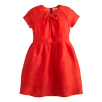 Girls' silk-linen flame dress